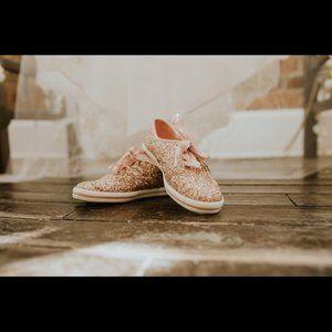 KATE SPADE x KEDS Rose Gold Glitter Sneakers 5.5